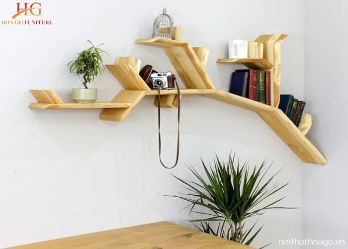 Mẫu kệ sách cành cây treo tường cho phòng ngủ