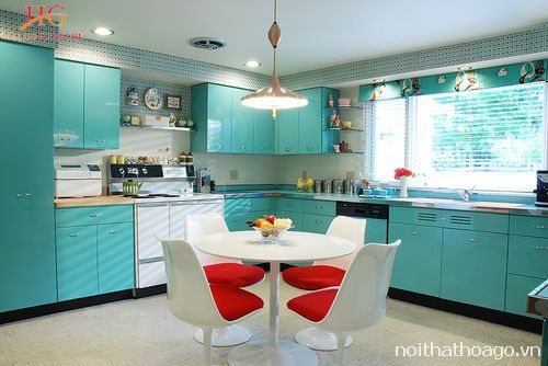 Tủ bếp nhựa gương bóng đẹp
