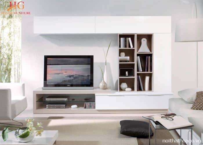 Tìm hiểu kệ trang trí âm tường phòng khách là gì