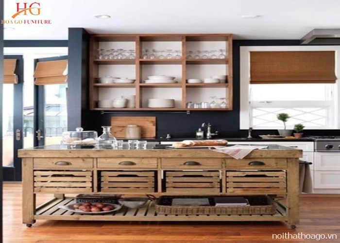 Mẫu kệ gỗ tối giản treo tường