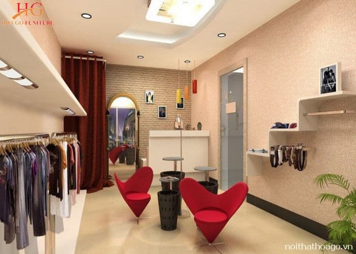 Mẫu kệ trang trí đẹp cho shop quần áo