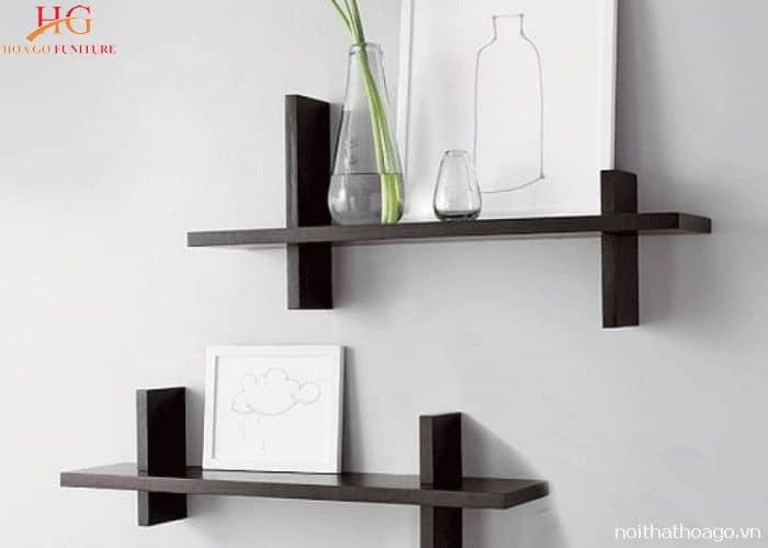 Tiết kiệm không gian bày trí với mẫu kệ gỗ treo tường nhỏ gọn