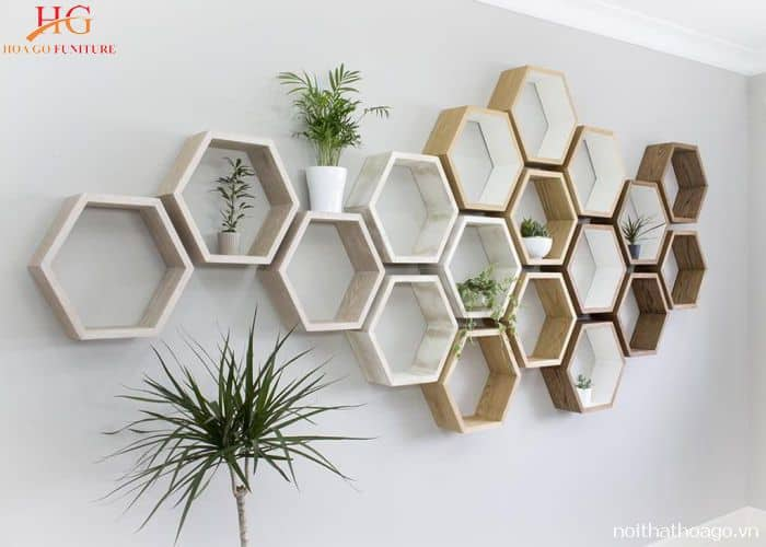 Mẫu kệ gỗ lấy ý tưởng từ tổ ong