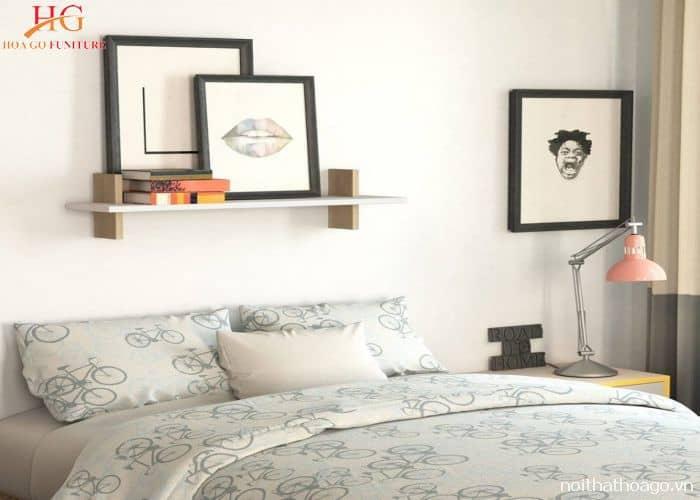 Mẫu kệ gỗ thiết kế đơn giản cho phòng ngủ