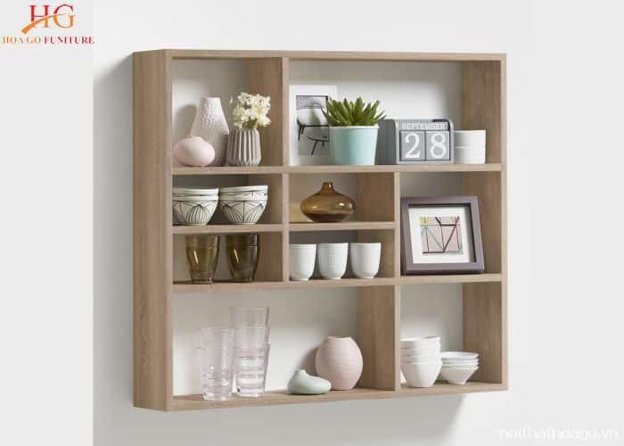 Kệ gỗ treo tường handmade hình hộp nhiều ngăn