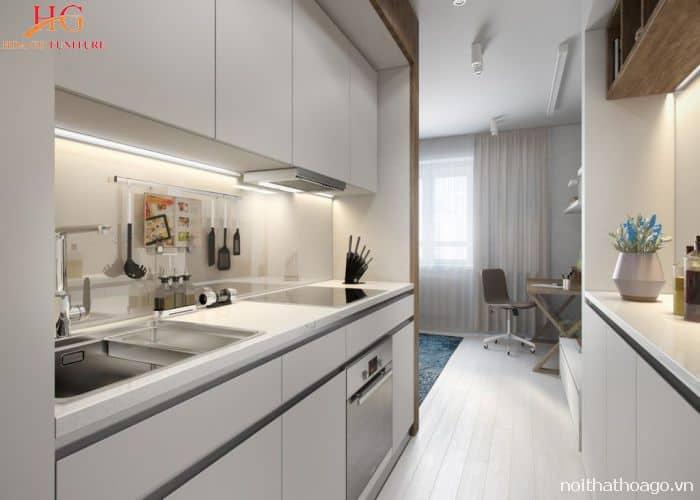 Mẫu nội thất tủ bếp kết hợp cổ điển và hiện đại phù hợp cho mọi nhà
