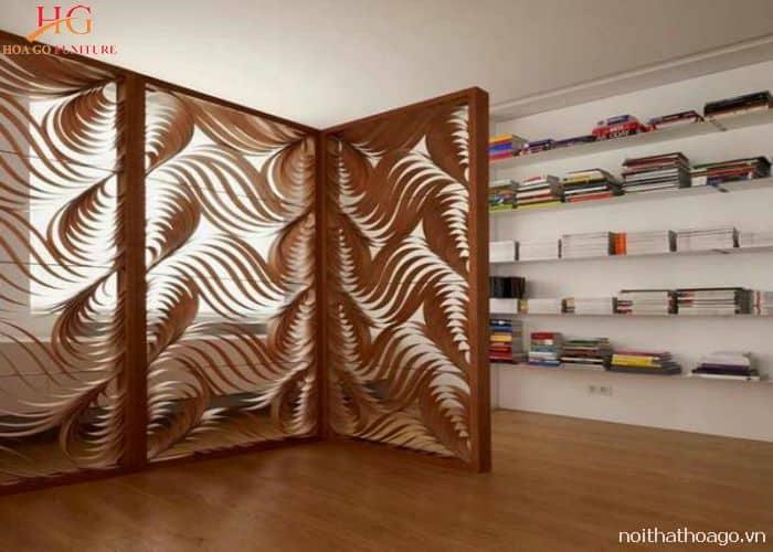 Vách ngăn gỗ công nghệ khắc 3D