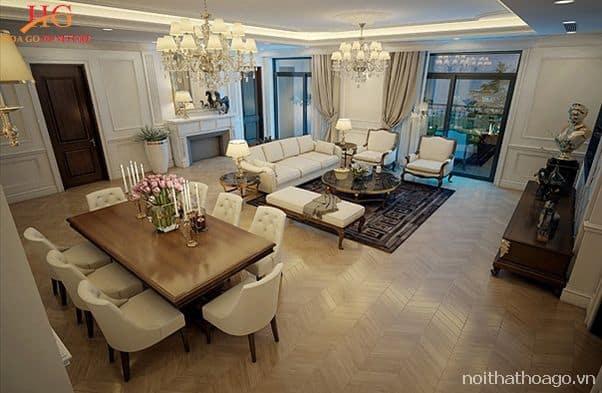 Thiết kế nội thất phù hợp giúp căn hộ chung cư trở nên rộng rãi và sang trọng hơn