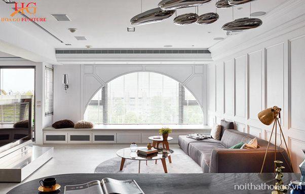 Phong cách hiện đại thường được áp dụng phổ biến trong thiết kế nội thất chung cư