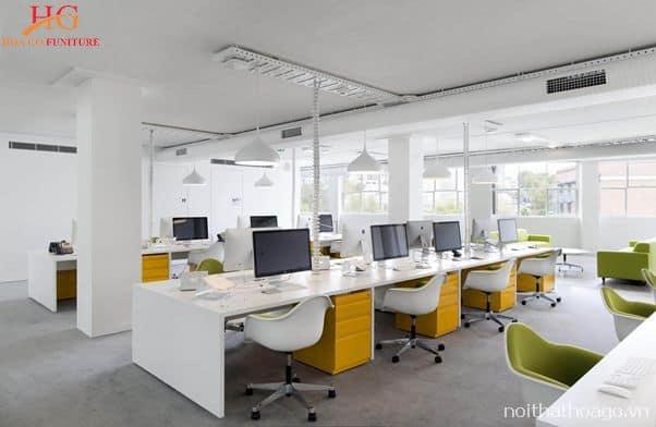 Thiết kế nội thất văn phòng đẹp mắt sẽ đem lại hứng khởi làm việc cho nhân viên