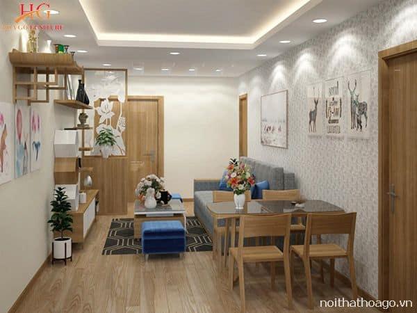 Sử dụng tranh treo tường để tạo điểm nhấn, thu hút sự chú ý của người xem trong việc thiết kế thi công nội thất căn hộ