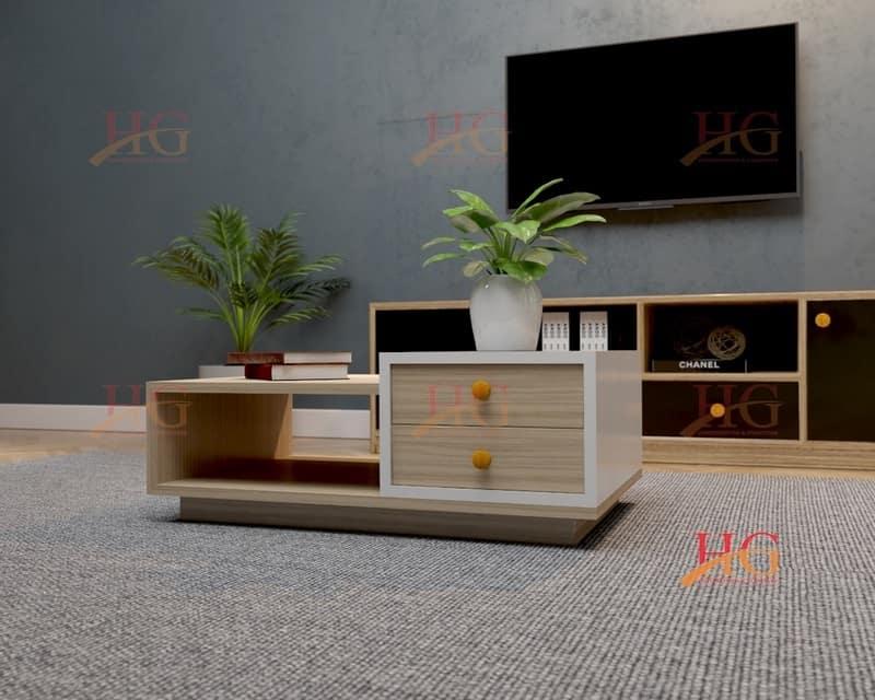 Bàn sofa gỗ phòng khách gia đình