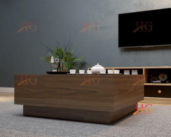 SF HG 151 600x480 - Bàn sofa gỗ MDF hình vuông đơn giản, mộc mạc