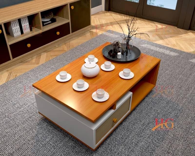 Bàn sofa phòng khách gỗ MDF
