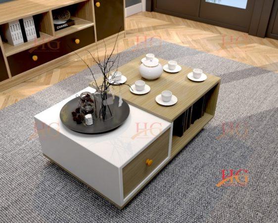Bàn sofa gỗ phong cách Bắc Âu hiện đại thanh lịch