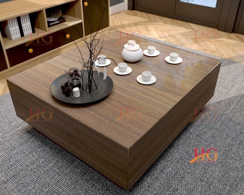 Bàn sofa MDF gỗ hình vuông