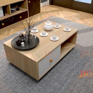 Bàn sofa gia đình bằng gỗ công nghiệp