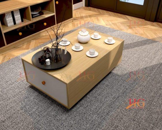 Sản phẩm bàn sofa vuông gỗ MDF 1 ngăn kéo