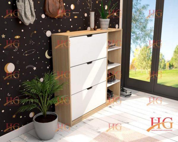 img ke giay dep KG HG 27 600x480 - Tủ giầy 3 tầng 2 ngăn