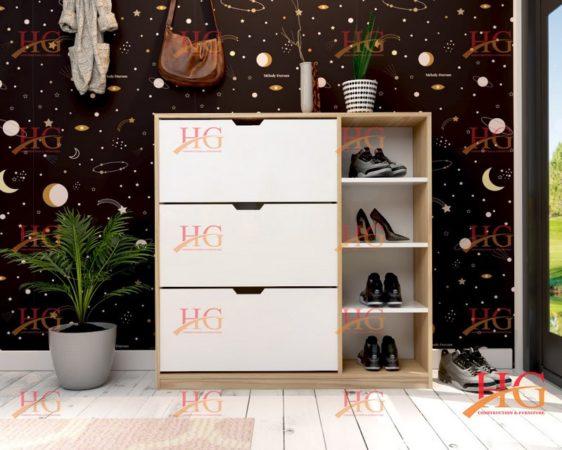 sản phẩm tủ giày 3 tầng 2 ngăn hiện đại đa năng tiện dụng