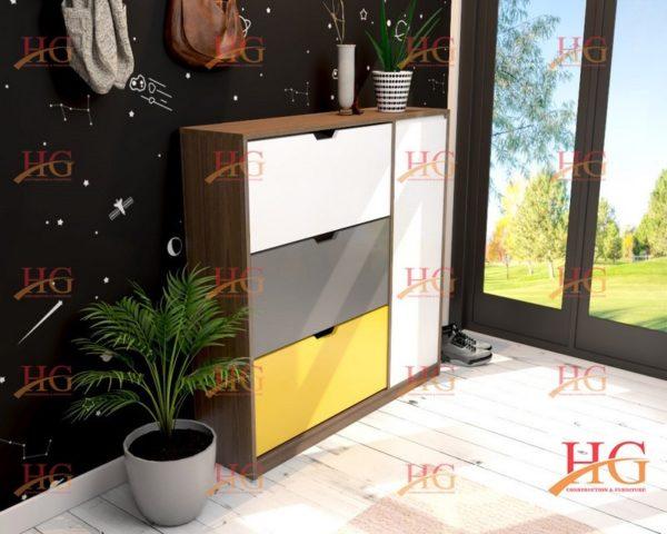 img ke giay dep KG HG 28 600x480 - Tủ giầy 3 tầng 2 ngăn