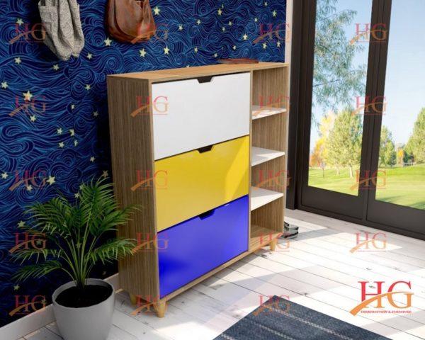 img ke giay dep KG HG 30 600x480 - Tủ giầy 3 tầng 2 ngăn