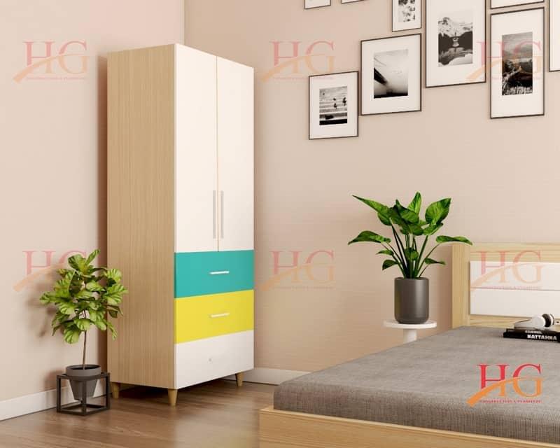 TA HG061 - Tủ áo Hoa Gỗ