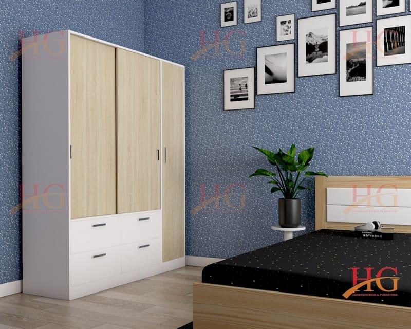 TA HG111 - Tủ áo Hoa Gỗ