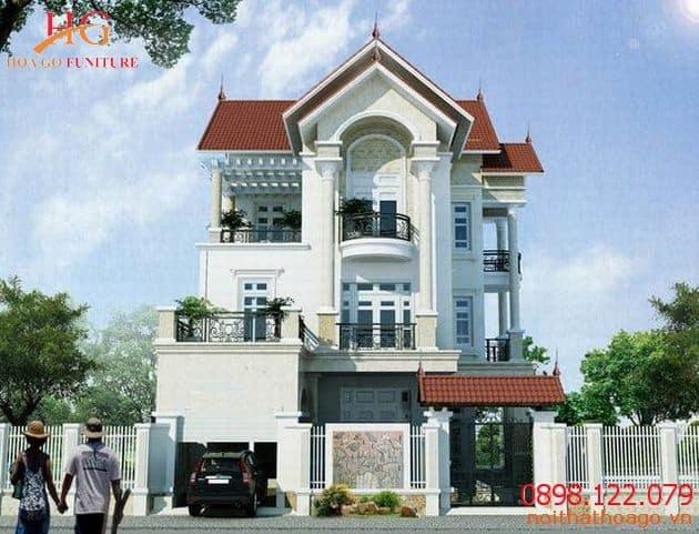Mẫu thiết kế nhà phố biệt thự tân cổ điển.