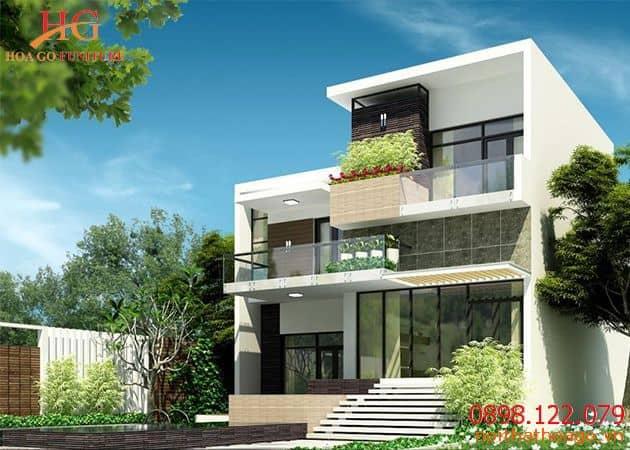 Thiết kế nhà phố biệt thự phong cách hiện đại.