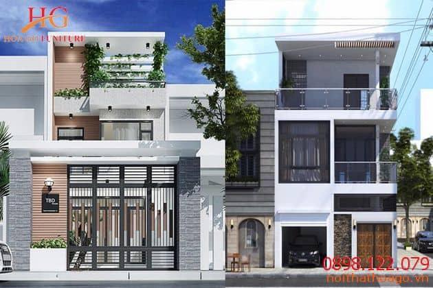 Giá thiết kế nội thất nhà phố 1 mặt tiền từ 190.000đ/m2.