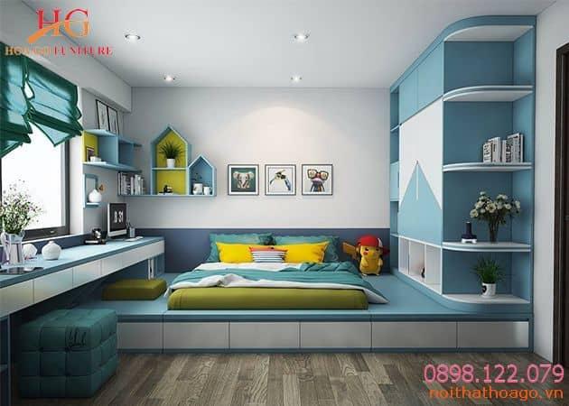 Phòng ngủ cho con thiết kế hiện đại, đảm bảo yêu cầu thẩm mỹ cao nội thất cho nhà phố