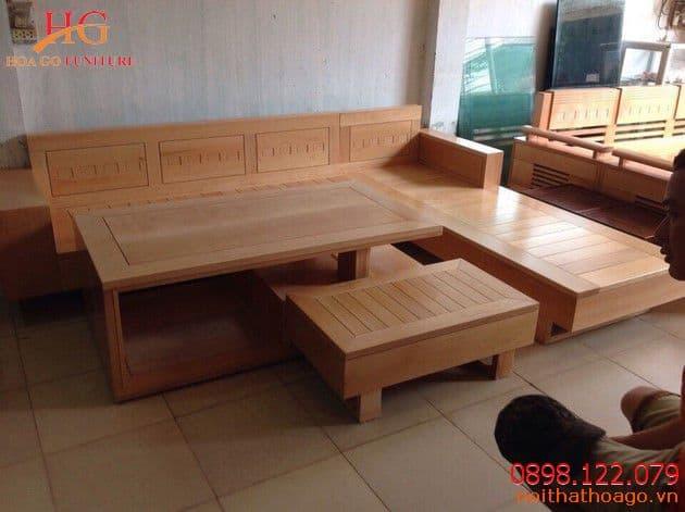 Sản phẩm nội thất gỗ - Mẫu bàn ghế sofa gỗ đang được ưa chuộng nhất