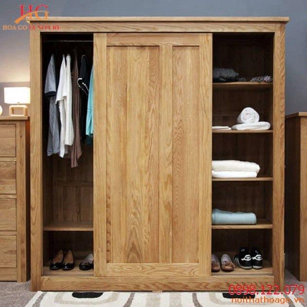 Sản phẩm nội thất gỗ - Tủ quần áo gỗ thiết kế mới mẻ, hiện đại