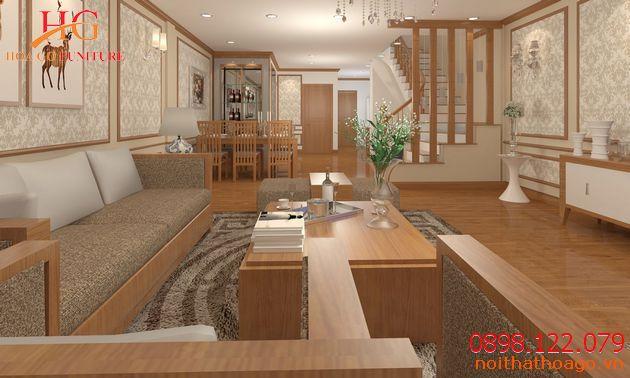 Cách trang trí nội thất phòng khách nhà phố đẹp và hiện đại