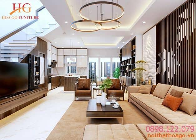 Giá thiết kế nội thất nhà phố trọn gói thường áp dụng cho những công trình có diện tích từ 50m2 trở lại