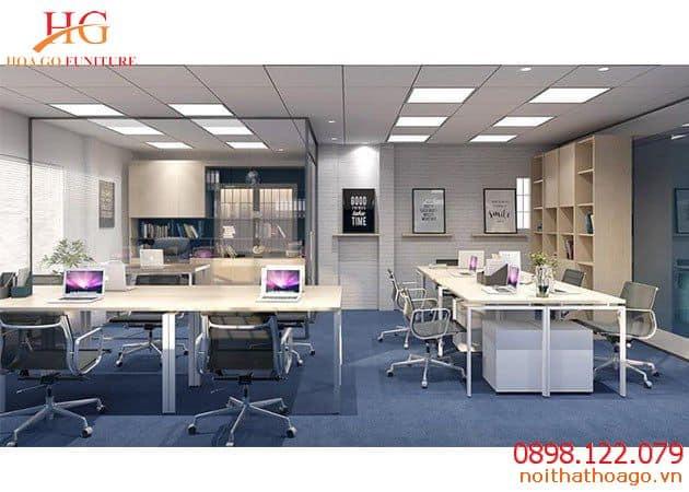 Bàn, ghế, tủ cá nhân là nội thất cốt yếu của một nơi làm việc công sở hiện nay