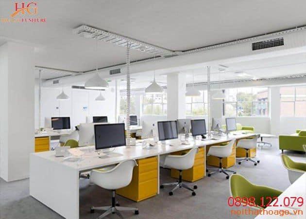 Nhu cầu thiết kế thi công nội thất văn phòng ngày càng lớn