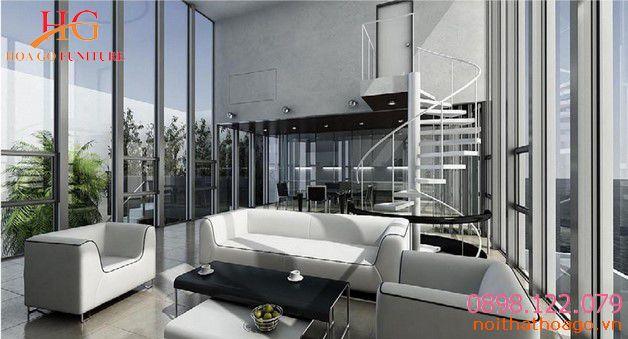 Sử dụng kính trong thiết kế nội thất nhà phố