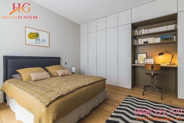 Dù nhỏ nhưng phòng ngủ vẫn đầy đủ tiện nghi. Nội thất nhà phố nhỏ