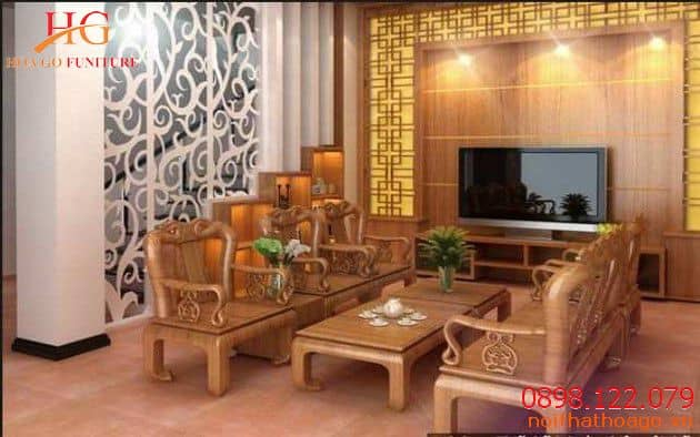 Những chiếc bàn, ghế gỗ hay kệ tủ gỗ vừa mang phong cách hiện đại mà vừa thể hiện không gian sang trọng cho phòng khách nhà bạn. Nội thất gỗ nhà phố