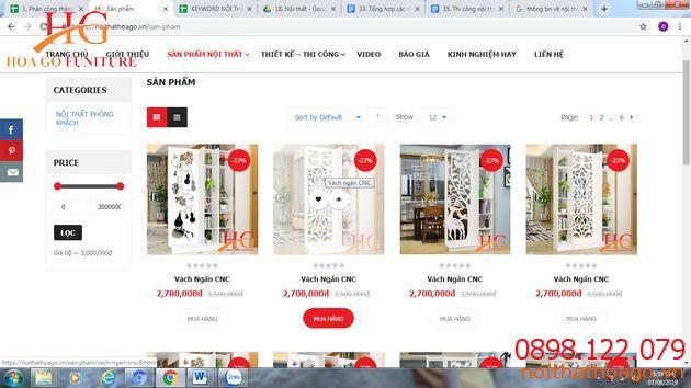 Tìm kiếm thông tin về các sản phẩm nội thất, tham khảo mức giáđể có thêm những thông tin
