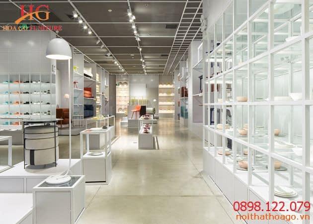 Thiết kế và thi công phòng trưng bày sản phẩm cần đảm bảo yêu cầu về mặt thẩm mỹ