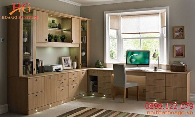 Mẫu nội thất văn phòng nhà ống 4 – 5m đơn giản
