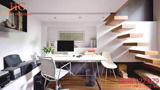 Mẫu nội thất văn phòng nhỏ nhà ống có cầu thang