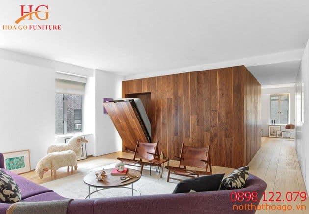 Mẫu giường gỗ thông minh. Sản phẩm nội thất gia đình