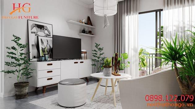Nội thất nhà mặt phố phong cách White on White