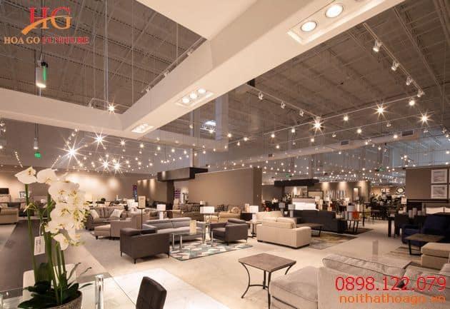 Không gian showroom siêu rộng
