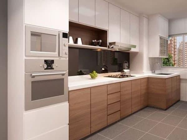 tu bep am tuong - 7 mẫu kệ tủ bếp đơn giản nhưng khiến không gian phòng bếp đẹp hơn hẳn