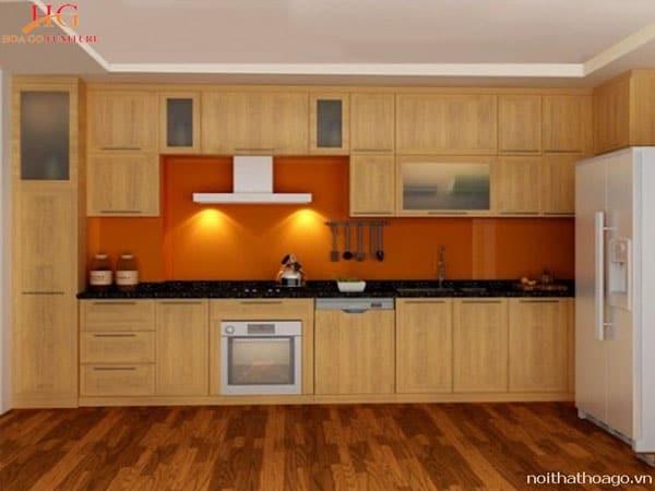 u bep soi dep 2 - Top 15 mẫu tủ bếp kệ bếp bằng gỗ Sồi cực đẹp